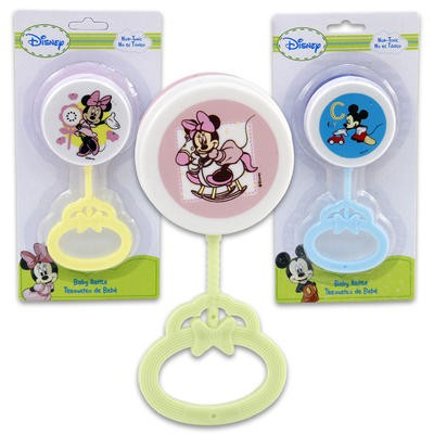 BABY244 - MICKEY & MINNIE ASSORTED LOLLIPOP RATTLE (12pcs @ $1.35/pc)