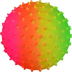 Item# A15RAKNB - 5'' Inflatable Rainbow Knobby Balls (100 pcs @ $0.75/pc)