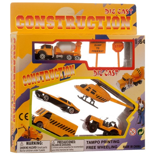 Item# CJ688999201921 - 7pc Construction Vehicle Play Set (48pks @ $3.25/pk)