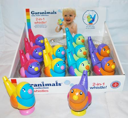 "BR134 - 3.5"" Garanimals Baby Water Whistle (12 pcs @ $1.69/pc)"