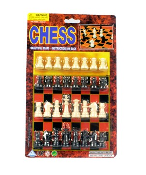 Item# KK75231 - CHESS SET ON CARD (24pcs @ $1.25/pc)