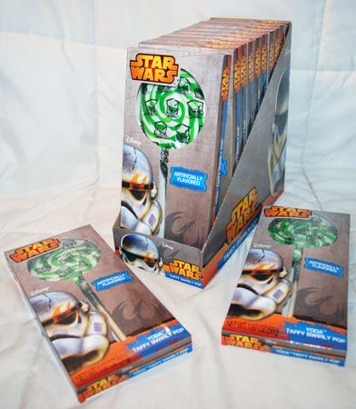 "B217 - 8"" Star Wars Taffy Swirl Pop (12 pcs @ $1.35/pc)"