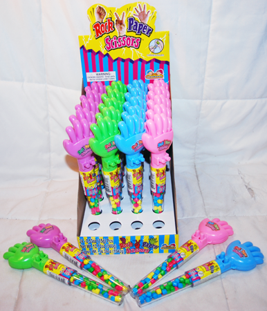 "BR212 - 8.5"" Rock Paper Scissors Toy with Candy (24 pcs @ $1.35/pc)"