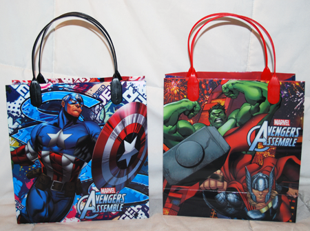 "BR238 - 8"" Marvel Avengers PVC Gift Bag (12 pcs @ $0.90/pc)"