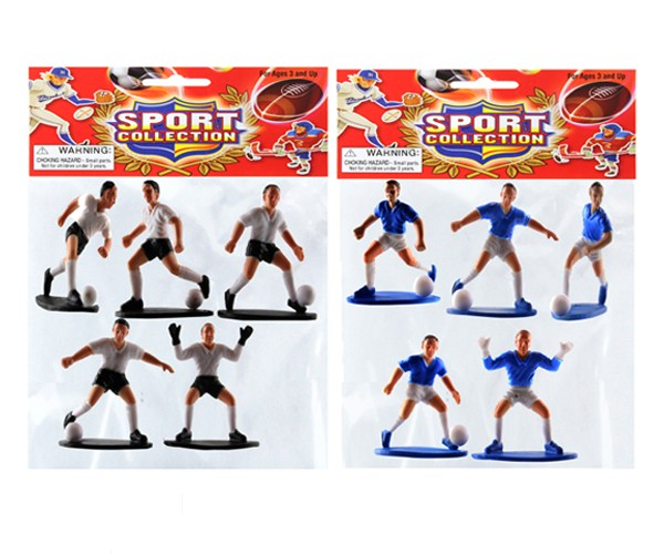 "Item# KK91169 - ""2.5"""" 5pc SOCCER PLAYER (36pks @ $1.45/pk)"