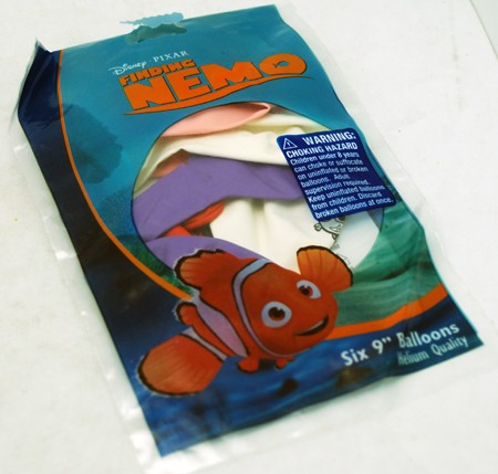 "BALLOON1 - Finding Nemo 6pk 9"" Balloons (12pcs @ $1.20/pc)"