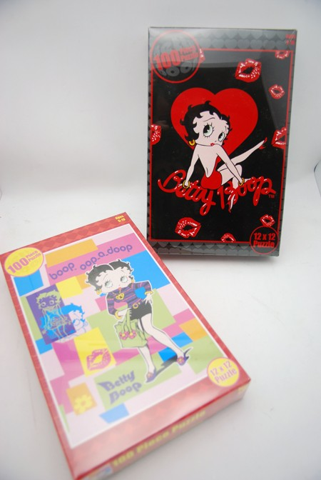 BBPUZ - Betty Boop 100pc Puzzles (12pcs @ $1.50/pc)