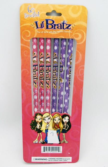 BR6P - Bratz 6pk Pencils (12pks @ $1.25/pc)