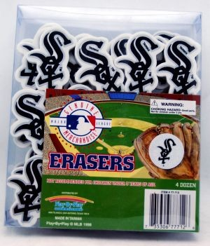 "15R3 - 2"" Chicago White Sox Erasers (48pcs @ $0.20/pc)"