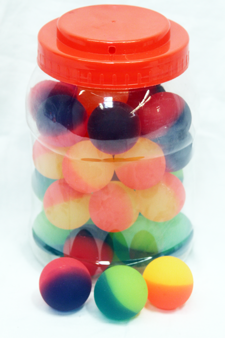 "CZNW9 - 1.5"" Colorful Icy Balls in Jar (24pcs @ $0.50/pc)"