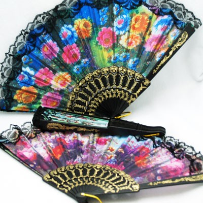 CZCHINEFAN4 - 9' Quality Plastic Chinese Fans (12pcs @ $0.75/pc)