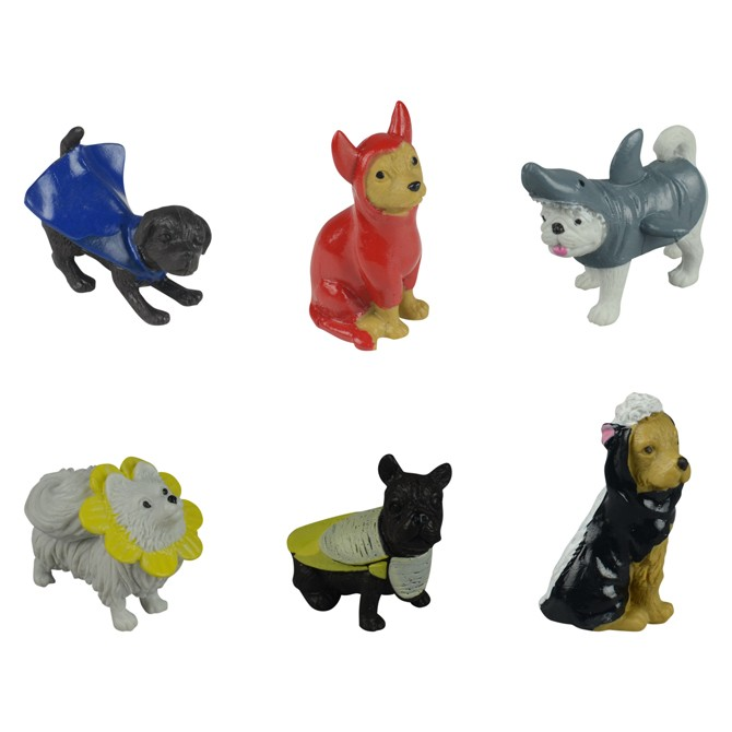 "Item# A1DODIB - 1.5"" Assorted PVC Dogs in Disguise (100 pcs @ $0.20/pc)"