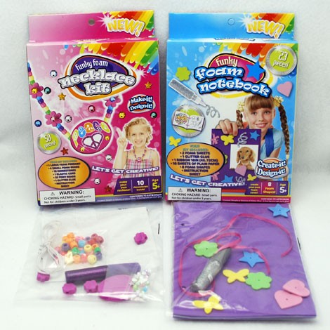 "FOAMCK - 8"" Asst. Foam Craft Kits (12pcs @ $1.15/pc)"