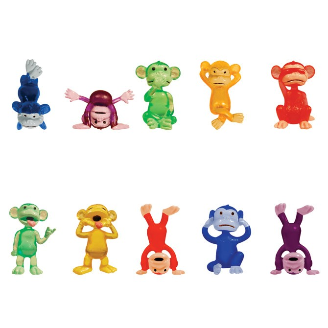 "Item# A1FUMOB - 1.5"" Funny Monkey Figurines (100pcs @ $0.12/pc)"