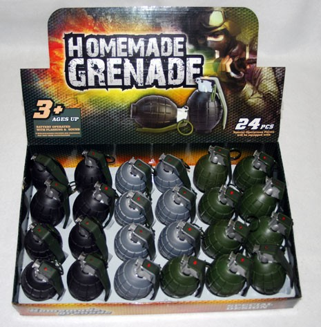 "GERNADE2 - 4"" Gernades w/ Clicking and Sound - Batt. Included. (24pcs @ $1.20/pc)"