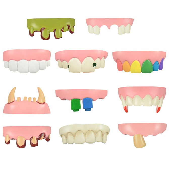 Item# A1HOT8B - Tacky Teeth in Bulk (100pcs @ $0.18/pc)