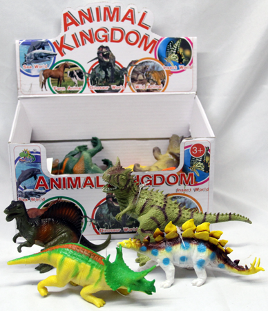 "CZDIN7Z - 7"" Extreme Detail Painted Dinosaurs in Display Box (12pcs @ $0.79/pc) ..."