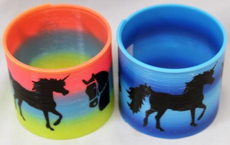 CZRSUNI - Lg 90mm Unicorn Rainbow Srprings (12pcs @ $0.88/pc)...