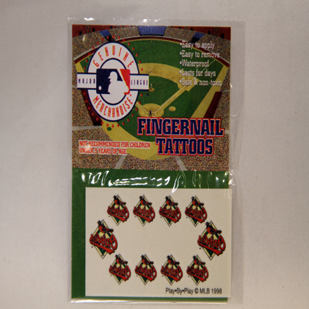 "BR494 - MLB Orioles Fingernail Tattoos on ""2.5 Card (144pc@ $0.04/pc)"