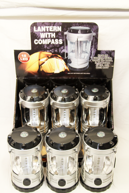 "JB185 - 18"" LED Lanterns with Compass (6pcs @ $7.50/pc)"
