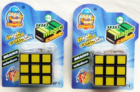 "CZTH134 - Rubix Cube Style Toy on 6"" Card (12pcs @ $1.25/pc)"