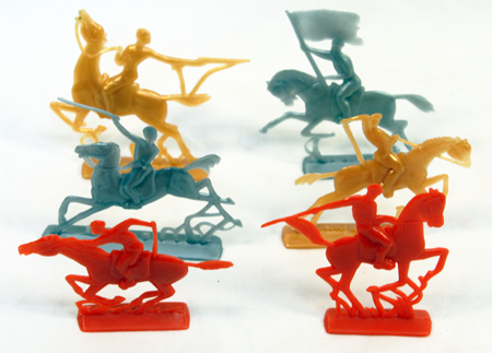 "KNIGHT1 - 2.5"" Plastic Colorful Warrior Knights(108.pcs @ $0.04/pc)"