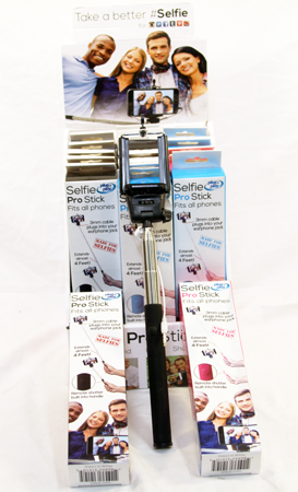 SELF - Selfie Sticks in Display Box (6pcs @ $3.25/pc)