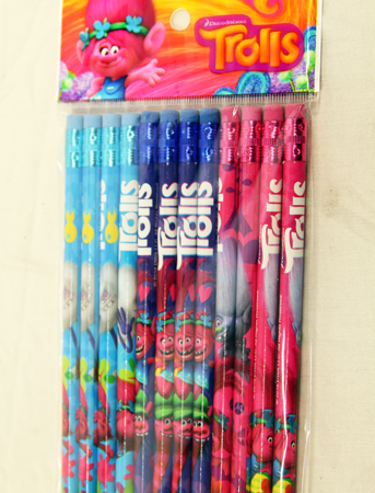 "PENCILT - Trolls Movie 8"" Bulk Pencils (12pcs @ $0.15/pc)"