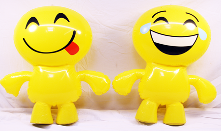"EMOJIINF - Emoji 24"" Inflatable Characters (12pcs @ $2.50/pc)"