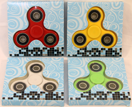 "HAND1 - Asst. Color Hand Spinners in 3.5"" Box (12pcs @ $1.35pc)"