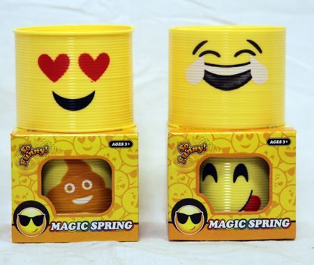 "CZTH12 - 3"" Asst. Emoji Springs in Box (12pcs @ $0.75/pc)"