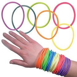 Item# A1JELLB - Jelly Bracelets in Bulk Bag (100 pcs @ $0.05/pc)