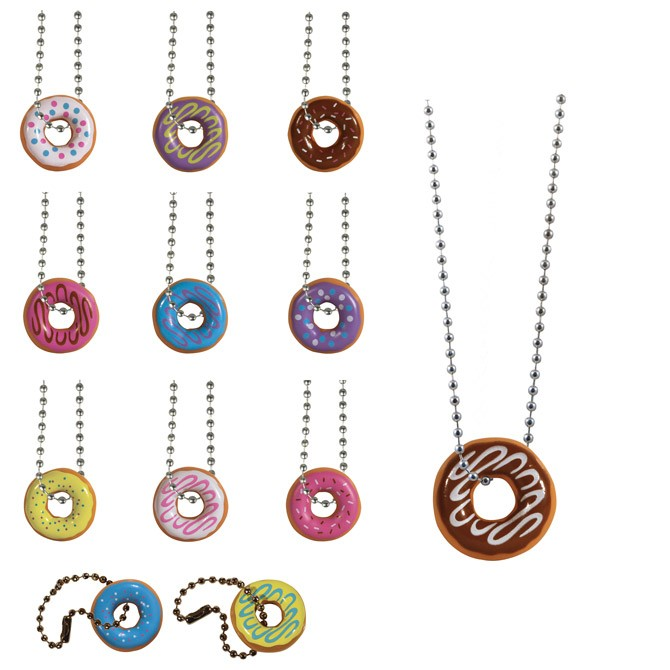 "Item# A1LODOB - 1"" I Love Donuts Necklaces (100pcs @ $0.20/pc)"