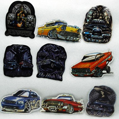 "LOW - 3.5"" Asst. Lowrider Scene Stickers (100pcs @ $0.25/pc)"