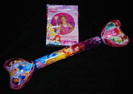 "PRINFLATE - Disney Princess 24"" Inflatable Double Heart Wand (12pcs @ $1.75/pc)"