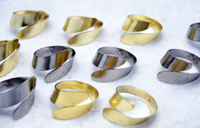 "RINGMET6 - 1"" Twist Metal Rings (144pcs @ $0.03/pc"