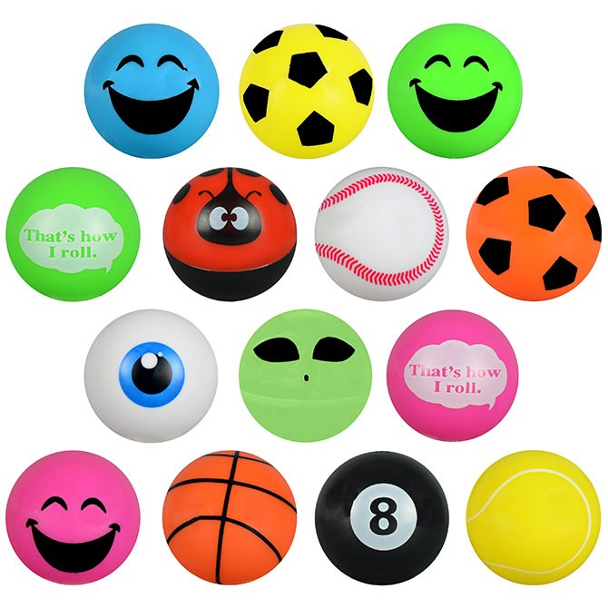 "Item# A1SEM4B - 2"" Large Fun Mix Asst. (100pcs @ $0.25/pc)"