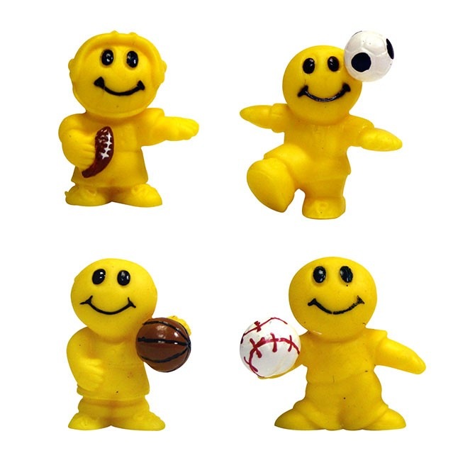 "Item# A1SMILB - 1.5"" Silly Smile Sport Guys (100pcs @ $0.09/pc)"