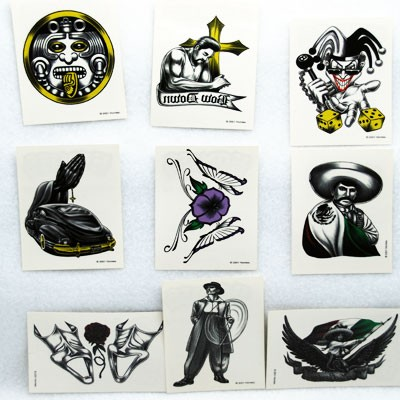 "STIHOMIE - 3.5"" Homies Tattoos Asst. (100pcs @ $0.25/pc)"