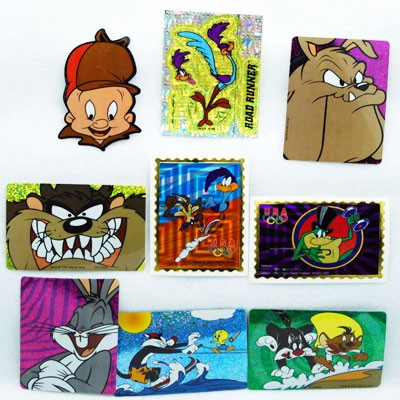 "STILT3 - 3.5"" Looney Tunes Asst. Stickers (100pcs @ $0.25/pc)"