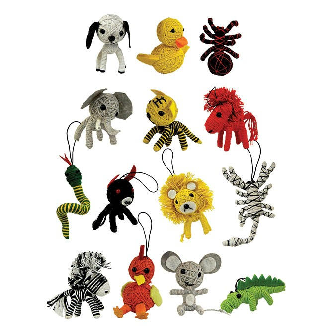 Item# A1VOO5B - Animal String Dolls (100pcs @ $0.45/pc)