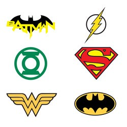 Item# A1WAR35B - DC Comics Logo Tattoos in Bulk Bag (1200 pcs @ $0.05/pc)