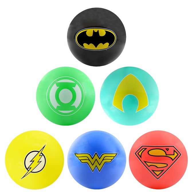 Item# A1WAR38B - 5'' Inflatable DC Comics Hero Logo Vinyl Balls (250 pcs @ $0.85/pc)