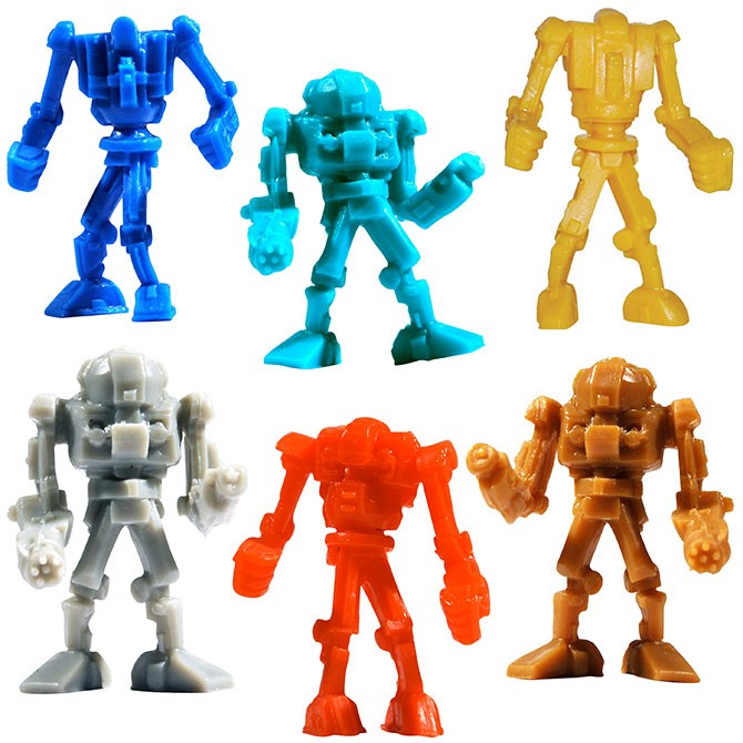 "Item# A1WARBB - 1.5"" Warbots Figurines in Bulk (100pcs @ $0.09/pc)"