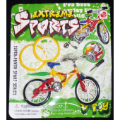 "BIKEFING2 - Plastic Finger Bikes on 8"" Card (12pcs @ $0.90/pc)"