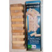 "JENGA2 - 48pc Wodden Jenga Game in 11"" Tin (each @ $7.50/pc)"