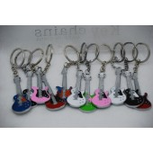 "CZGUITKC - 3"" Metal Asst. Guitar Keychains (12pcs @ $0.90/pc)"