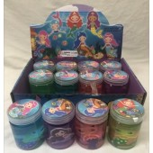 "CZMERGOO - 3"" Colorful Mermaid Theme Slime Jars (12pcs @ $0.90/pc)"