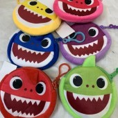 "CZSHARKBA - 5"" Soft BABY SHARK Plush Coin Purse Clip On (12pcs @ $0.95/pc)"
