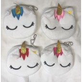 "CZUNICP - 4"" Plush Sleeping Unicorn Coin Purse (12pcs @ $0.79/pc)"